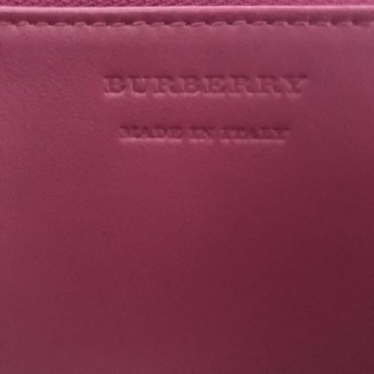 Burberry Burberry Peony Rose Print Haymarket Check & Leather Zip Around Wallet Image 6