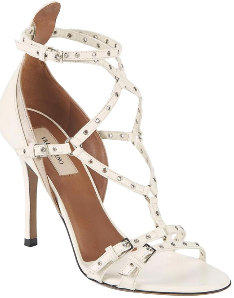 9256e3e89c2 Valentino Ivory New Patent Leather Love Latch Grommet Sandals Size EU 39.5  (Approx. US 9.5) Regular (M, B) 39% off retail