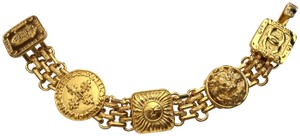 Chanel RARE CHANEL GOLD PLATED CHARM BRACELET