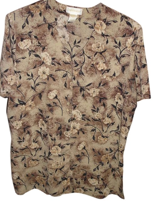 Item - Brown Blouse Size 16 (XL, Plus 0x)