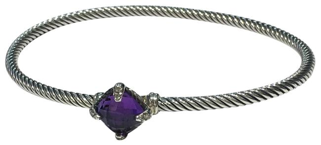 Item - Purple Chatelaine Silver with Amethyst and Diamonds Bracelet