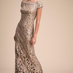 BHLDN Ginseng Mother Of The Bride From By Tadashi Shoji Formal Bridesmaid/Mob Dress Size 0 (XS)