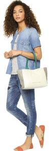 Marc by Marc Jacobs What's The T Colorblock Leather Tote in Lily Flower Multi