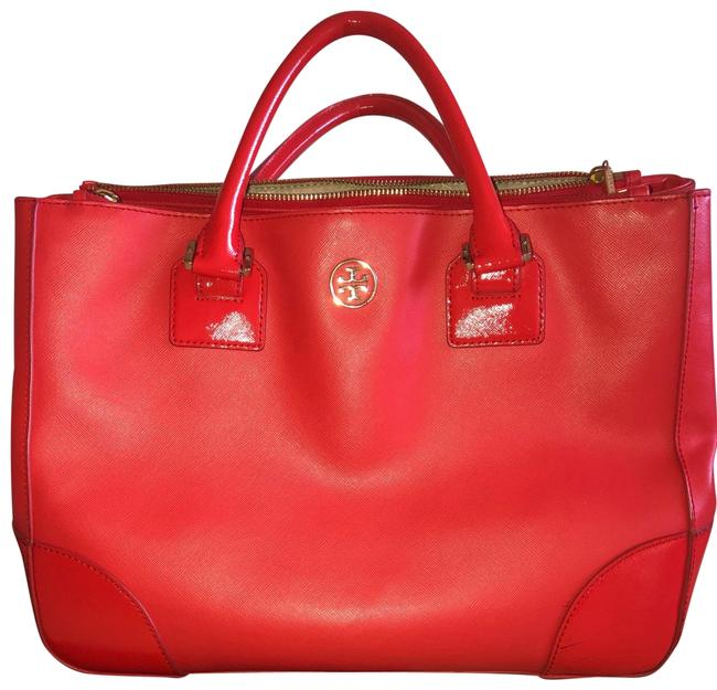 Item - Robinson Tote. Top Handle Orange/Coral Satchel