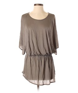 Anthropologie Tunic Tissue T-shirt Dolman Modal Top Gray