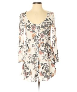Kendall + Kylie short dress White/Pink/Gray Boho Floral Tunic Festival on Tradesy