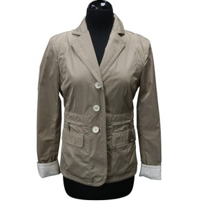 Moncler Rain Terrain Weather Neoprene Burberry Tan Beige White Blazer