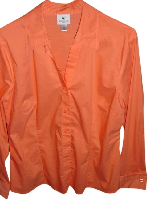 Worthington Button Down Shirt Orange