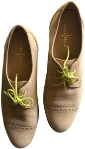 Cole Haan Oxfords Suede Yellow Comfort Tan/Chartreuse Flats