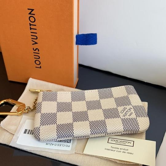Louis Vuitton Louis Vuitton Damier Azur Key Pouch Image 1