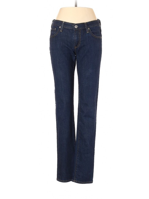 Item - Blue Dark Rinse The Stilt Cigarette Skinny Jeans Size 4 (S, 27)