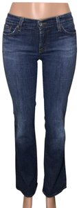 DKNY Low Rise Moto Patchwork Skinny Jeans-Dark Rinse