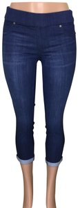 Liverpool Jeans Company Mid Rise Pull On Jeggings-Dark Rinse