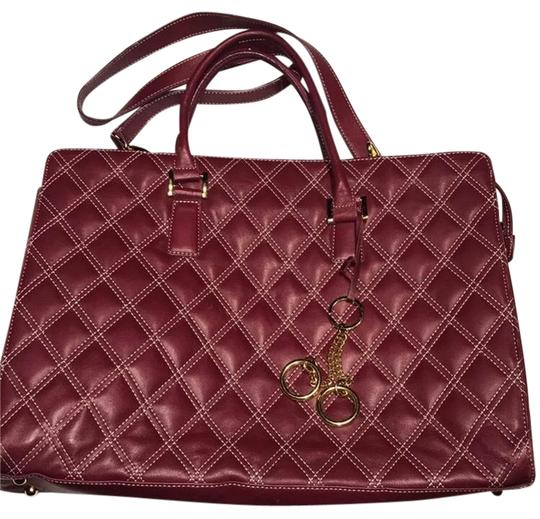 Franklin Covey Tote Red Leather Laptop