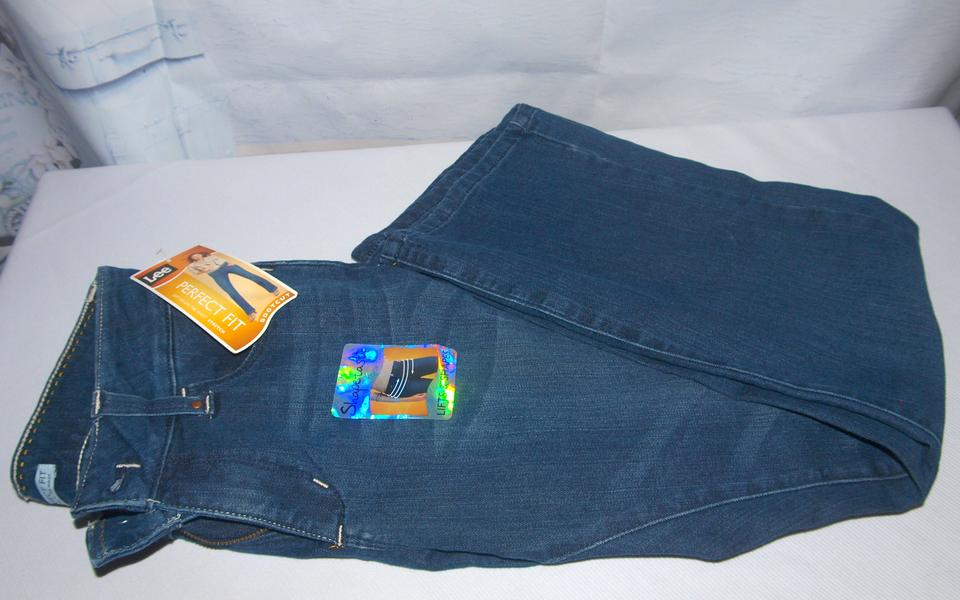 a4338a44 Lee Blue Medium Wash Shapetastic Lifts & Shapes Just Below The Waist Perfect  Boot Cut Jeans