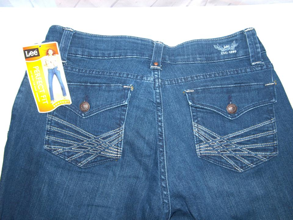 b43faa5b Lee Blue Medium Wash Shapetastic Lifts & Shapes Just Below The Waist ...