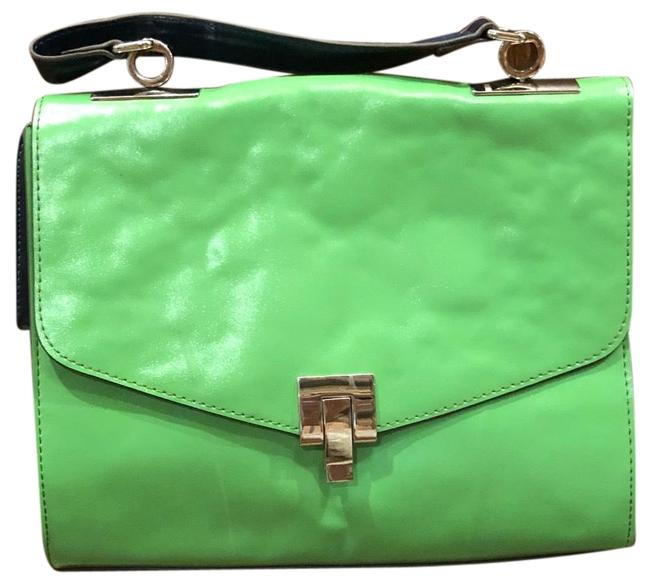 Item - Women's Sophie T Handle Kelly Combo Lime Green Leather Satchel