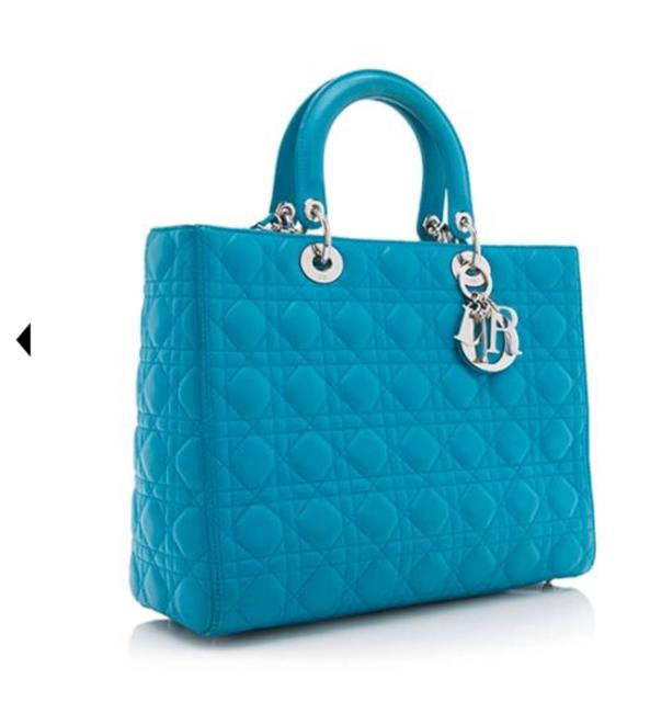Item - Lady Blue Lambskin Leather Tote