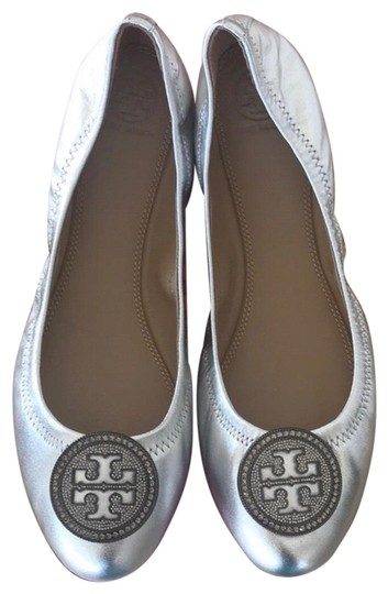 Tory Burch Silver Flats Image 0
