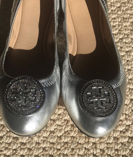 Tory Burch Silver Flats Image 1