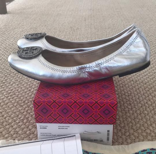 Tory Burch Silver Flats Image 2