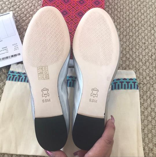 Tory Burch Silver Flats Image 3