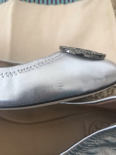 Tory Burch Silver Flats Image 8
