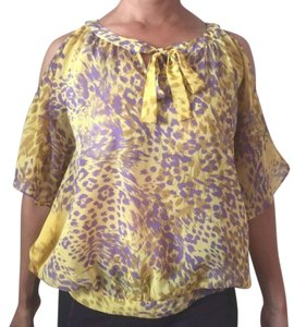 Jennifer Lopez Sheer Top Yellow, Purple