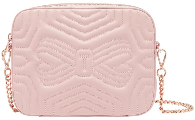 Ted Baker Camera Quilted Light Pink Leather Cross Body Bag Ted Baker Camera Quilted Light Pink Leather Cross Body Bag Image 1