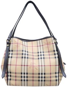 Burberry Burry Haymarket Check Canterbury Canvas Beige and multicolor Beach Bag