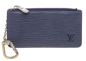 99b3cb19f21232 Louis Vuitton Blue Key Pouch Pochette Epi Leather Cles Wallet
