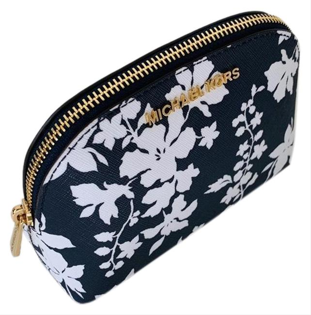 Item - Navy/White Jet Set New Travel Pouch Cosmetic Bag