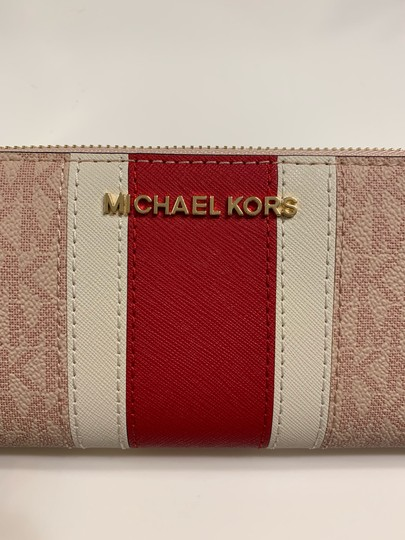 Michael Kors Jet Set Travel Large Three Quarter Zip Leather Wallet Clutch Image 2