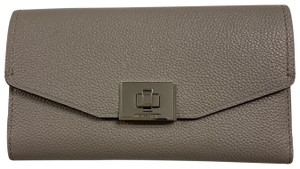 Michael Kors Cassie Large Trifold Leather Wallet Clutch