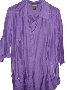 Lane Bryant Button Down Shirt Purple