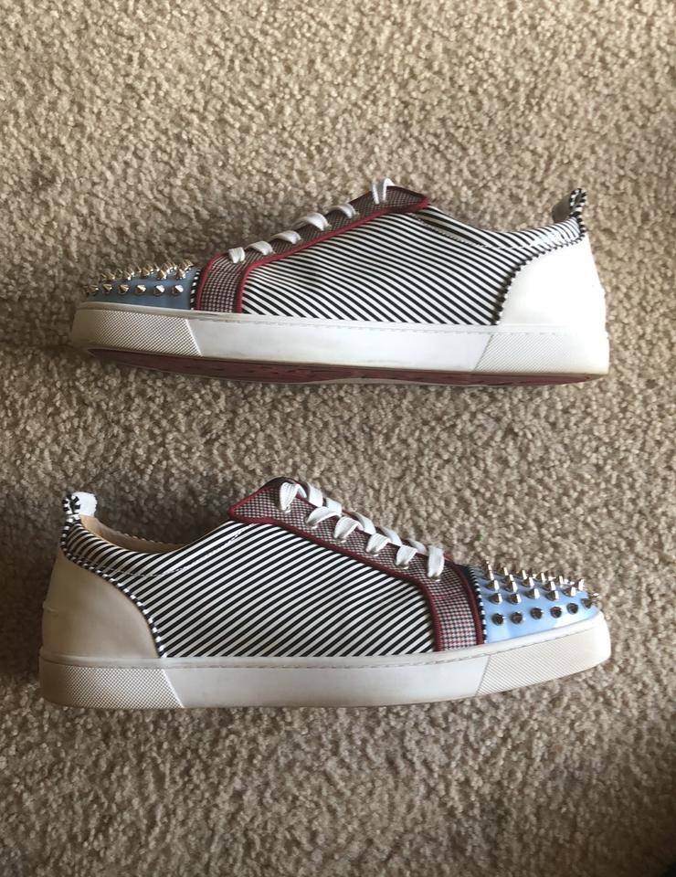 new product ccb6d 96f63 Christian Louboutin White Leather Louis Junior Spikes Orlato Men's Flat  Sneakers Size US 13 Regular (M, B) 47% off retail