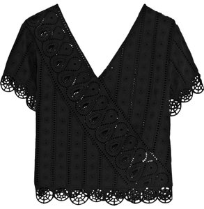 Opening Ceremony Cotton Resort Summer Quality Top Black