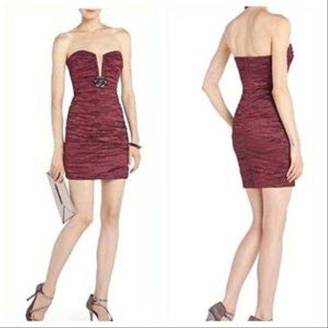 Item - Burgundy Strapless Sexy Bridesmaid/Mob Dress Size 2 (XS)