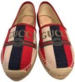 Gucci red blue cream Flats