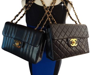 Chanel Classic Flap Vintage Oversized Caviar Cross Body Bag