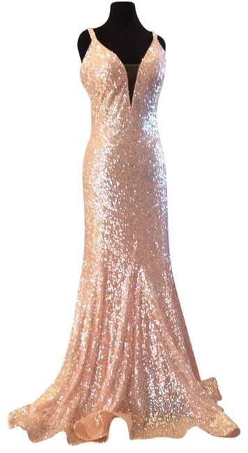 Item - Light Pink 66383a Long Formal Dress Size 12 (L)