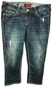 Seven7 Capri/Cropped Denim-Medium Wash