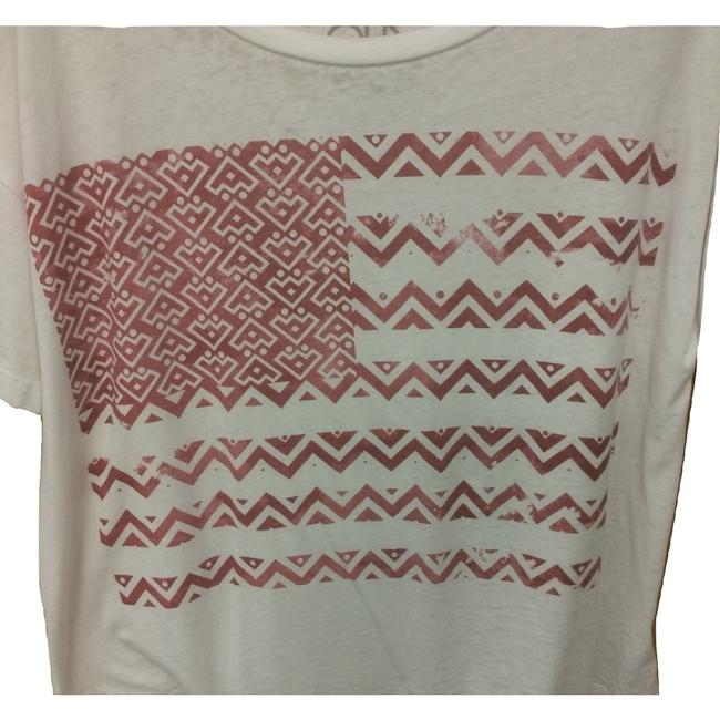 Chaser Sleeve Burnout Made In Usa Geoprint T Shirt White Image 2