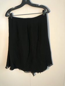 Armani Collezioni Silk Chiffon Cocktail Or Evening Side Zip Skirt Black