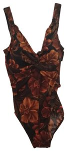 Miraclesuit NWT Miraclesuit Brown Multi Floral Bathing Suit size 10 model # 63683