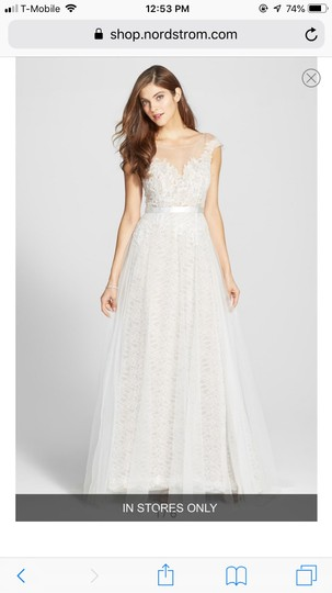 Watters Farah Tulle and Lace Formal Wedding Dress Size 10 (M) Image 2