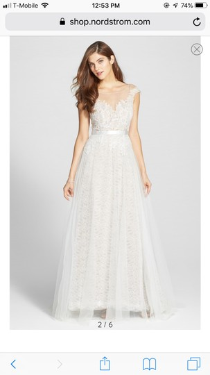 Watters Farah Tulle and Lace Formal Wedding Dress Size 10 (M) Image 3