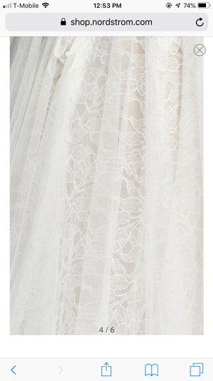Watters Farah Tulle and Lace Formal Wedding Dress Size 10 (M) Image 4