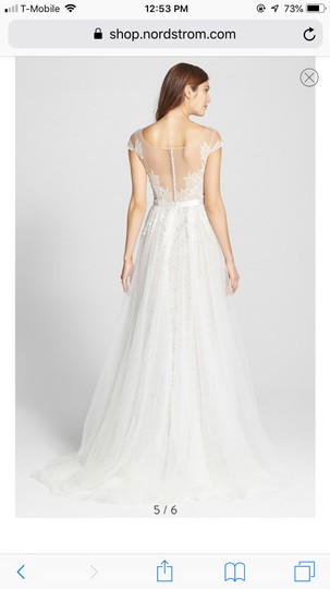 Watters Farah Tulle and Lace Formal Wedding Dress Size 10 (M) Image 5