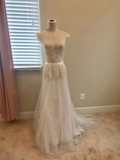 Watters Farah Tulle and Lace Formal Wedding Dress Size 10 (M) Image 6